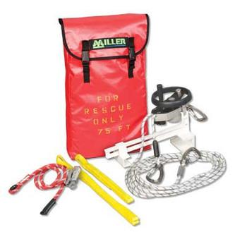 Miller SafEscape ELITE RDD with Hoisting Wheel and Ladder Bracket [50FT - 400FT] SEHWLB