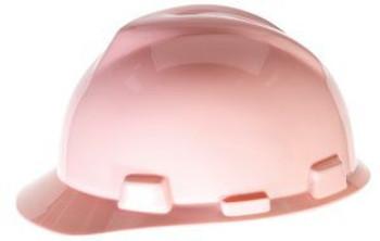 MSA V-Gard Pink Ratchet Hard Hat - 475362
