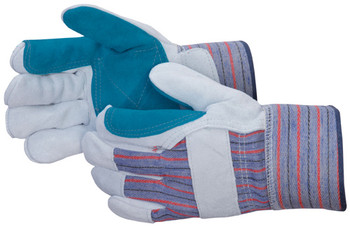 Leather Double Palm Safety Cuff Gloves - 12/Pair