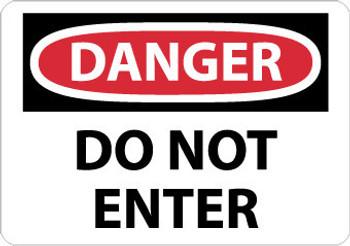 DANGER, DO NOT ENTER, 20X28, .040 ALUM