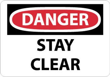 DANGER, STAY CLEAR, 10X14, .040 ALUM