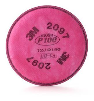 3M 2097 P100/Organic Vapor Filter - Pair