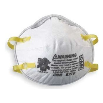 3M 8210 N95 Particulate Dust Mask 160 Masks (8 Boxes of 20 Masks)