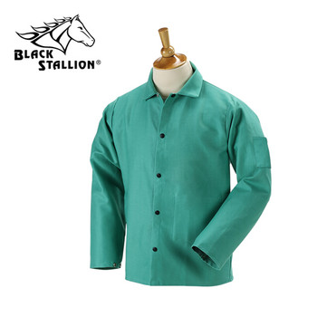 "Revco 9 oz. FR Cotton Coat - 30"" Green [M-XL]"