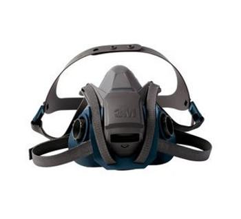3M 6503QL Series Rugged Comfort Quick Latch Half Facepiece Reusable Respirator - Large