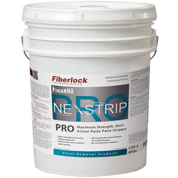 Fiberlock Piranha NexStrip Pro - Maximum Strength Paste Paint Stripper - 5 Gallon