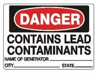 Danger Lead Generator Labels - 3x5 - 500/Roll