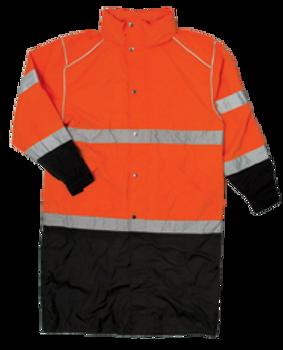 ML Kishgo Brilliant Series Long Orange Rain Coat