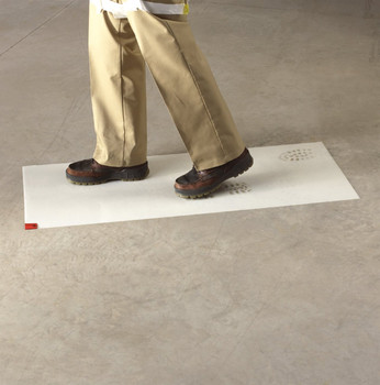 3M White Clean-Walk Mat 24 in x 36 in [240 Sheets] 5836
