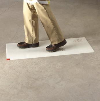 3M White Clean-Walk Mat 18 in x 36 in [240 Sheets] 5836