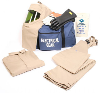 2cd5735569f6 NSA ArcGuard® 40 Cal Economy™ Arc Flash Kit with Short Coat and Bib Overalls