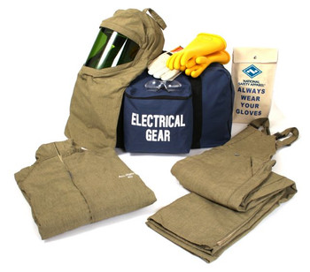 ef46701ae88d NSA ArcGuard® 40 Cal RevoLite™ Short Coat   Bib Overall Arc Flash Kit - HRC  4