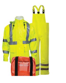 NSA Yellow Class 3 Arc H20 Flame Resistant Rainwear Kit - HRC 2
