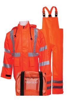 NSA Orange Class 2 Arc H20 Flame Resistant Rainwear Kit - HRC 2