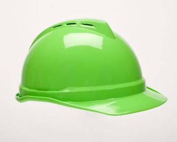 MSA Vented V-Gard Lime Green Ratchet Suspension - 10035212