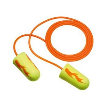 3M E-A-R E-A-Rsoft Yellow Neon Blasts Corded Earplugs [200 Pair] 311-1252