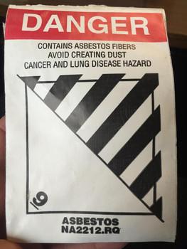4x4 - Danger Class 9 Asbestos Label 500/Roll
