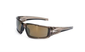 Uvex Hypershock Smoke Brown Frame Gold Mirror Lens, Hardcoat