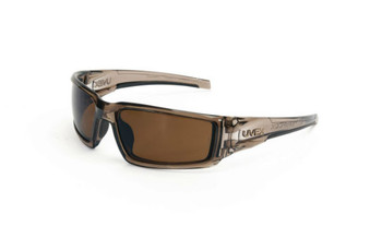 Uvex Hypershock Smoke Brown Frame Espresso Polarized Lens, Hardcoat