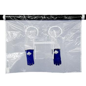 """High Temperature Glove Bag 300°F 72""""x120"""" w/ 2 Glove Sets"""