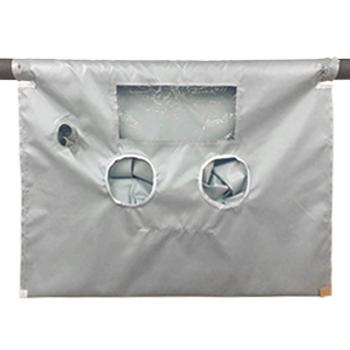 """High Temperature Glove Bag 400°F 72""""x96"""" w/ 2 Glove Sets"""