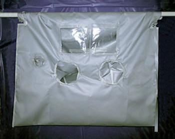 """High Temperature Glove Bag 700°F 72""""x120"""" w/ 2 Glove Sets"""