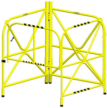 """Xtirpa™ Manhole Guard Integrated Mast 42"""" IN-2108"""