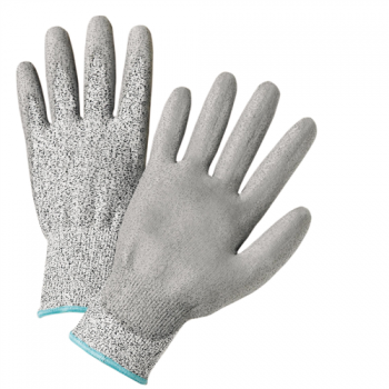 West Chester Gray PU Palm Coated Speckle Gray HPPE Gloves - Cut Level 2