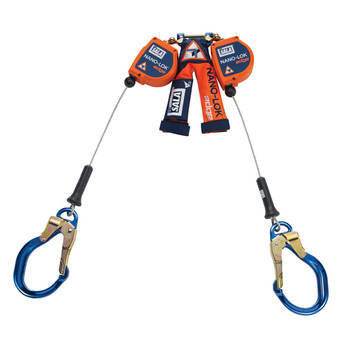 3M DBI-SALA 3500231 Twin Leg 8 ft Nano-Lok Edge Self Retracting Lifeline - Cable