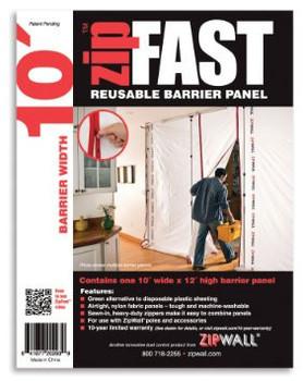ZipWall ZipFast 10' Panel – ZF10