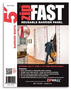 ZipWall ZipFast 5' Panel – ZF5