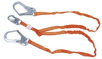 Miller Titan™ II 6 ft. Double Leg Tubular Shock-Absorbing Lanyard w/Locking Rebar Hooks T5122-Z7/6FTAF
