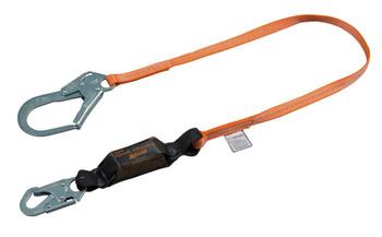 Miller Titan™ II 6ft. Pack-Type Shock-Absorbing Lanyard w/Locking Rebar Hook T6112-Z7/6FTAF
