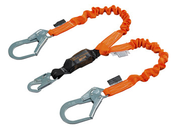 Miller Titan™ II 6 ft. Double Leg Stretch Pack-Type Shock-Absorbing Lanyard w/Locking Rebar Hook T6122SS-Z7/6FTAF