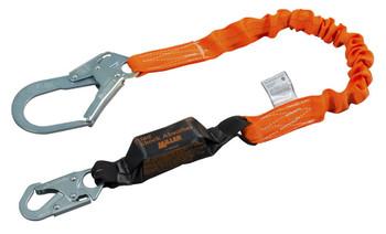 Miller Titan™ II 6 ft. Stretch Pack-Type Shock-Absorbing Lanyard w/Locking Rebar Hook T6112SS-Z7/6FTAF