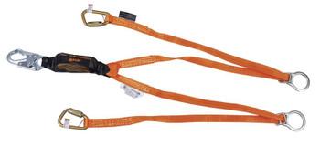 Miller Titan™ II 6 ft. Double Leg Tie-Back Lanyard with Pack-Type Shock Absorber T6121TB-Z7/6FTAF