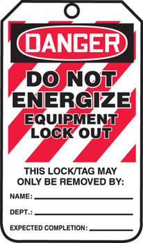 Do Not Energize Equipment Lock Out  - MLT416FTP