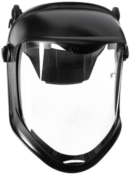 Uvex Bionic Face Shield with Hard Had Adapter and Clear Polycarbonate Anti-fog/Hardcoat Visor - S8515