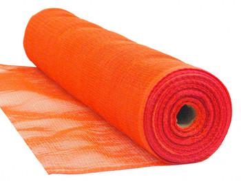 "Orange Flame Retardant 1/4"" Mesh Debris Netting - 8'6"" x 150'"