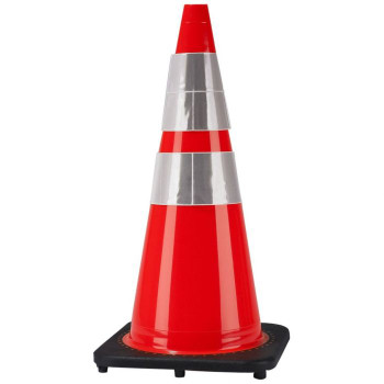 """28"""" Wide Body Traffic Cone with Reflective Collars"""