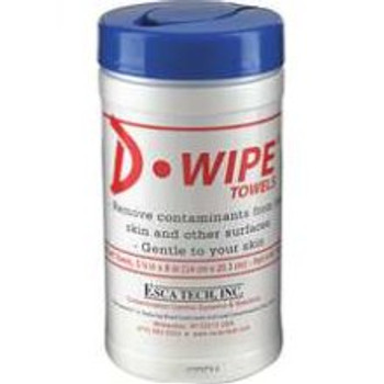 D-Wipe Skin Cleaning Lead Towels Canister WT070 - 1 Canister