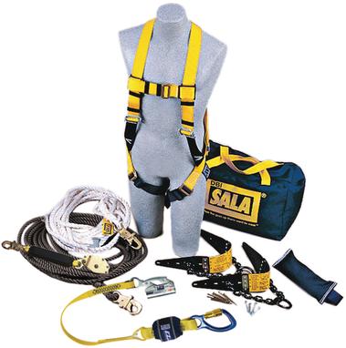 3M DBI-SALA Roofer's Fall Protection Kit - Horizontal Lifeline System - 7611904