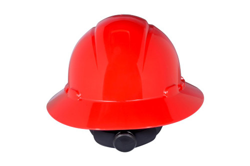 3M Full Brim Hard Hat H-805R-UV - Red 4-Point Ratchet Suspension - with Uvicator - 20 EA/Case