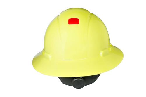 3M Full Brim Hard Hat H-809V-UV - Hi-Vis Yellow 4-Pt Ratchet Suspension - Vented - w/Uvicator - 20 EA/Case