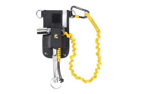Python Safety™ Scaffold Wrench Holster with Retractor - Belt - with Hook2Loop Bungee Tether - 1500097