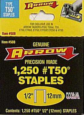 "T50 1/2"" Staples"