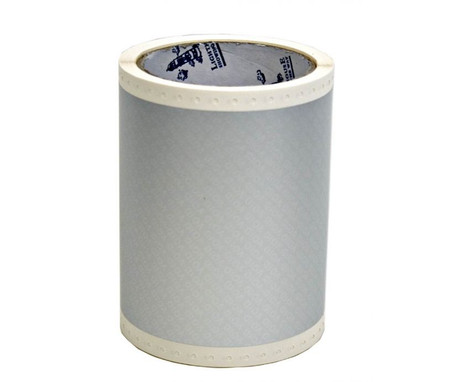 4 1/3 In. X 49 Ft. Gloss Polyester -  Silver-Grey