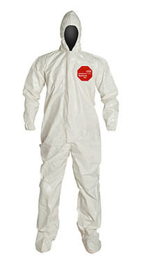 DuPont Tychem® 4000 White Coverall - SL122T WH
