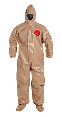 DuPont Tychem® 5000 Tan Coverall - C3128T TN BF