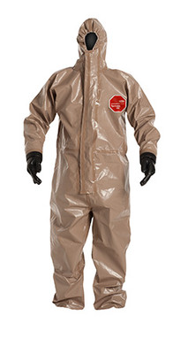 DuPont Tychem® 5000 Tan Coverall - C3198T TN ATTACHED